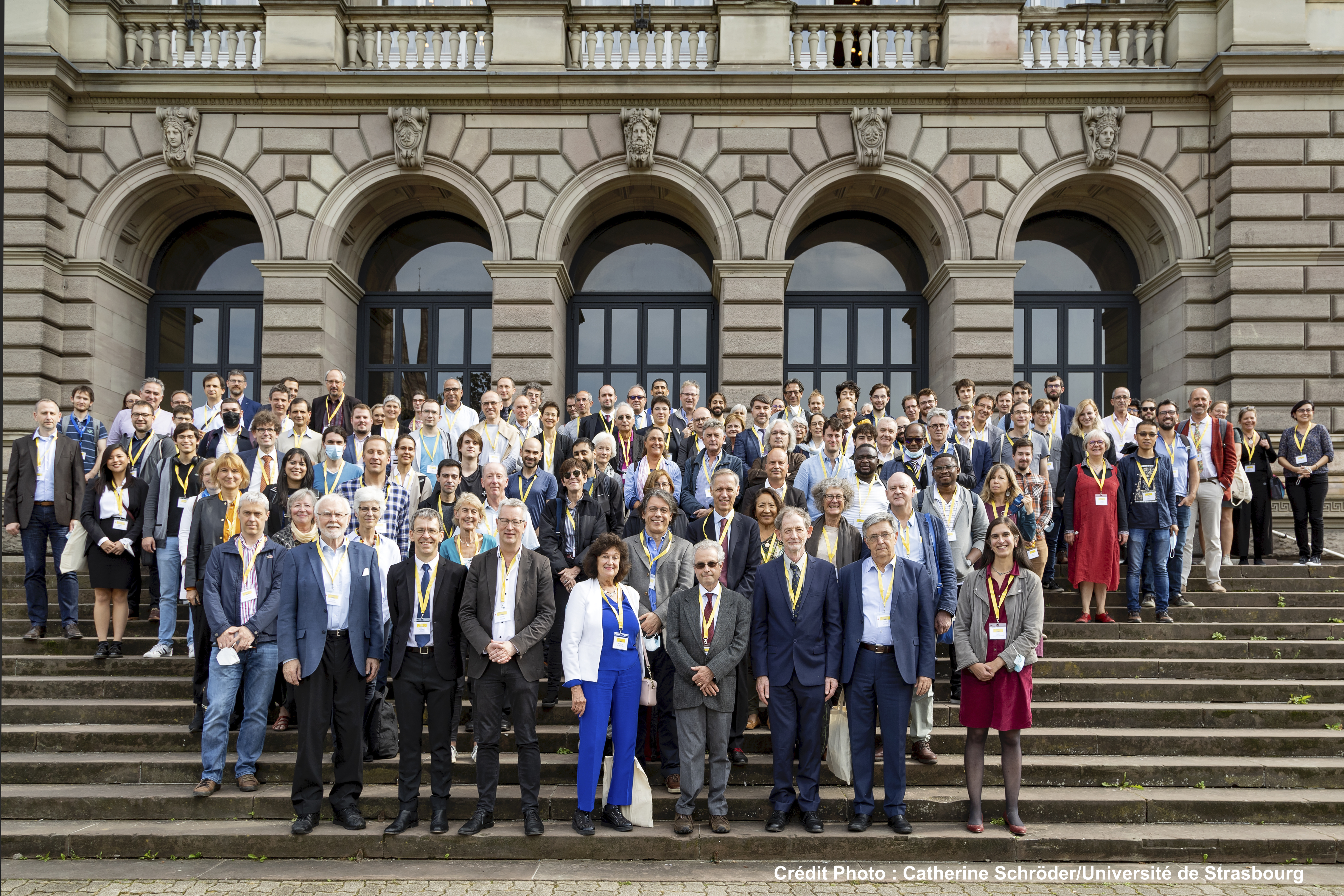 photo of the participants, Monday September 27 2021 on the steps of the Palais Universitaire in Strasbourg.
